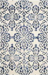 Safavieh Dip Dyed Ddy719p Ivory - Navy Area Rug