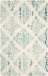 Safavieh Dip Dye Ddy720q Ivory - Light Blue Area Rug