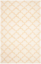 Safavieh Dhurries Dhu117a Ivory - Gold Area Rug