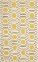 Safavieh Dhurries Dhu202a Ivory / Yellow Area Rug