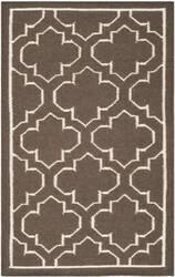 Safavieh Dhurries Dhu625c Brown / Ivory Area Rug