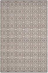 Safavieh Dhurries Dhu626c Brown - Ivory Area Rug