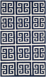 Safavieh Dhurries Dhu626d Navy / Ivory Area Rug