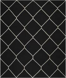 Safavieh Dhurries DHU635A Black / Ivory Area Rug