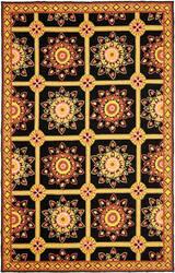 Safavieh Durarug Ezc711c Black - Yellow Area Rug
