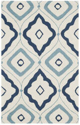 Safavieh Four Seasons Frs235n Ivory - Navy Area Rug