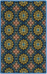 Safavieh Four Seasons Frs426a Black / Blue Area Rug