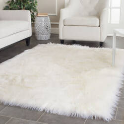 Safavieh Faux Sheep Skin Fss235a Ivory Area Rug