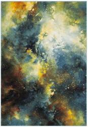 Safavieh Galaxy Gal111b Blue - Multi Area Rug