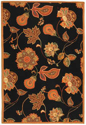 Safavieh Chelsea HK209C Black / Orange Area Rug