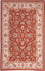 Rugstudio Sample Sale 49999R Burgundy / Ivory Area Rug