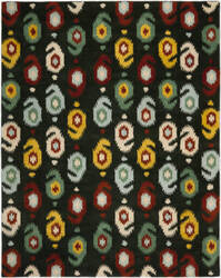 Safavieh Ikat IKT471A Charcoal / Multi Area Rug