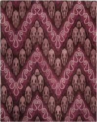 Safavieh Ikat IKT473A Dark Brown / Purple Area Rug