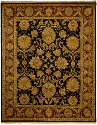 Safavieh Imperial Jap425b Black - Burgundy Area Rug