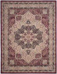 Safavieh Lavar Kerman Lvk621b Creme - Red Area Rug