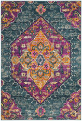 Safavieh Madison Mad119c Blue - Fuchsia Area Rug