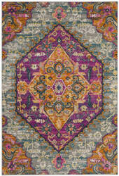Safavieh Madison Mad119g Light Grey - Fuchsia Area Rug