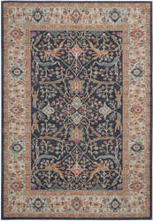 Safavieh Madison Mad612d Navy - Creme Area Rug