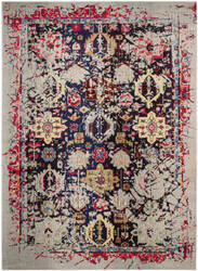 Safavieh Monaco Mnc206g Grey - Multi Area Rug