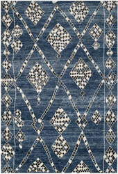 Safavieh Moroccan Mor553b Blue / Black Area Rug