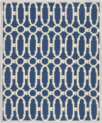 Safavieh Newport Npt434c Royal Blue / White Area Rug