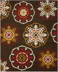 Safavieh Newbury Nwb8699 Brown / Red Area Rug