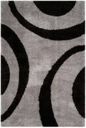 Safavieh Portofino Shag Pts213c Grey - Black Area Rug