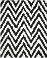 Safavieh Shag Sg250b Ivory - Black Area Rug