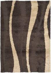 Safavieh Florida Shag Sg451-2813 Dark Brown / Beige Area Rug