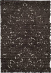 Safavieh Florida Shag Sg460-2879 Dark Brown / Smoke Area Rug