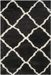 Safavieh Belize Shag Sgb489c Charcoal - Ivory Area Rug