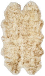 Safavieh Sheepskin Shag Shs121d Off White - Coco Brown Area Rug