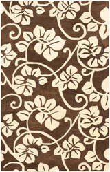 Rugstudio Sample Sale 47285R Brown / Ivory Area Rug
