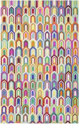Safavieh Studio Leather Stl167a Ivory - Multi Area Rug