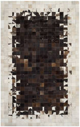 Safavieh Studio Leather Stl215b Ivory / Dark Brown Area Rug