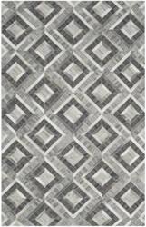 Safavieh Studio Leather Stl221a Ivory - Dark Grey Area Rug