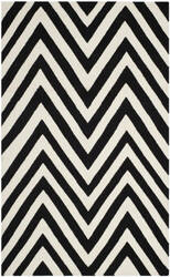 Safavieh Dhurries Dhu568c Black / Ivory Area Rug