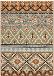 Safavieh Veranda Ver097-745 Green / Terracotta Area Rug