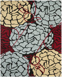 Safavieh Wyndham WYD321A Charcoal / Red Area Rug