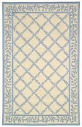 Rugstudio Sample Sale 46370R Ivory / Light Blue Area Rug