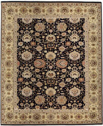 Samad Cote D'Azur Monaco Black/Light Gold Area Rug