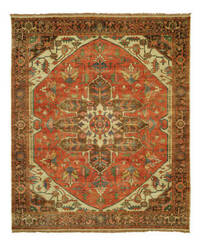 Shalom Brothers Jules Serapi Js-754 Antique Wash Finish Area Rug