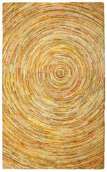 St. Croix Brilliant Ribbon Crb08 Yellow Area Rug