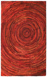 St. Croix Brilliant Ribbon Crb09 Red Area Rug