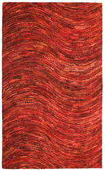 St. Croix Brilliant Ribbon Crb13 Red Area Rug
