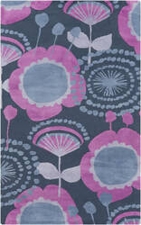 Surya Abigail ABI-9044 Violet (purple) / Gray / Blue Area Rug
