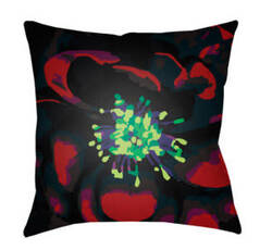 Surya Abstract Floral Pillow Af-009