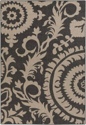 Surya Alfresco ALF-9615 Black/Taupe Area Rug