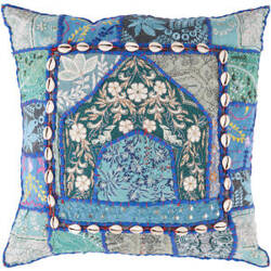 Surya Pillows AR-069 Teal/Multi