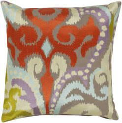 Surya Ara Pillow Ar-073 Taupe/Orange